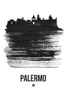 NAXART Studio - Palermo Skyline Brush Stroke Black