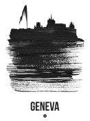 NAXART Studio - Geneva Skyline Brush Stroke Black