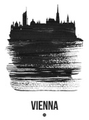 NAXART Studio - Vienna Skyline Brush Stroke Black