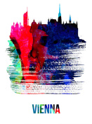 NAXART Studio - Vienna Skyline Brush Stroke Watercolor