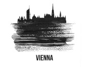 NAXART Studio - Vienna Skyline Brush Stroke Black II