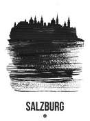 NAXART Studio - Salzburg Skyline Brush Stroke Black