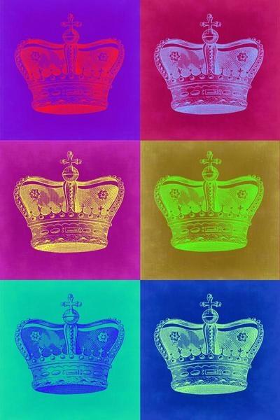 Crown Pop Art 2 By Naxart Studio Canvas Print At Naxart Com